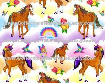 Lisa Frank Rainbow Chaser Horse Sticker Sheet S281 vintage