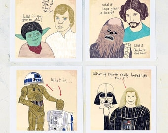 Mixed Media, Star Wars Art, Film Geek, Fine art prints, Star Wars Geek, Wall decor, Star Wars gift, Humor, Men, Prints on FIne Art Paper