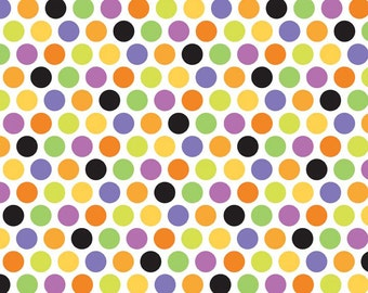 SALE Halloween parade fabric by Riley Blake Fabrics- Halloween Parade Dots in Multi -Yardage