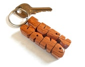 Wave Keychain in Mesquite...