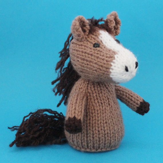 Horse Toy Knitting Pattern (PDF) Legs, Egg Cozy & Finger ...