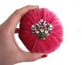 "4"" Pink Emery Pincushion / Pin Cushion"