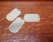 Large Dog Tags Blank - 10 Pieces in Silver