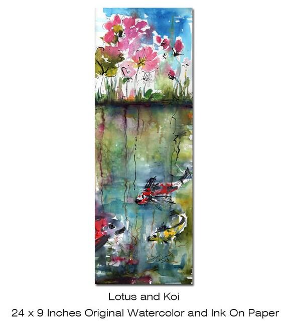 Unavailable listing on etsy for Koi fish pond lotus