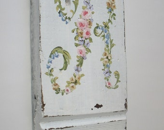 Personalized initial painting custom Floral monogram Item made of choice of flowers original ooak art