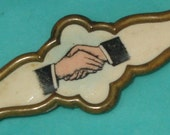 Vintage Victorian Hand Shake Fraternal PIn