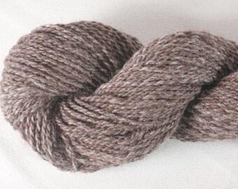 Handspun Yarn - Rose Grey Alpaca and Merino Wool - 110 or 150 yds