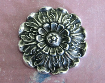 NEW Large Silver Rosette Finding 3568
