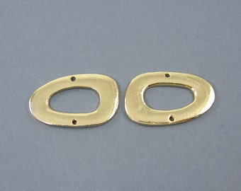 Gold Connector Oval Jewelry Finding Link |G9-14|2