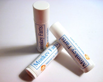 Monkey Farts Lip Balm (Handmade, fruity, moisturizing, gift idea, fun, lip protection, Stardust Soaps