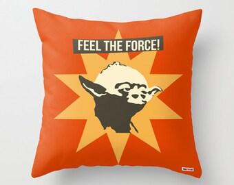 Star Wars pillow - Boyfriend gift ideas - Present for him - birthday gifts for boyfriend - kid gifts - Yoda throw pillow - Modern