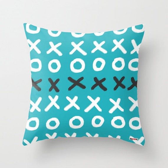 Scandinavian Design Throw Pillows : Items similar to Pillow cover - Modern pillow cover - 20x20 Blue - Scandinavian design - Red ...