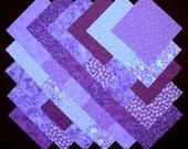 PURPLE 100% cotton Prewashed Prints 5inch Quilt Block Fabric Squares (B/31B)