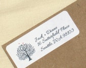 Wedding Return Address Labels - Tree Labels - Birds - Self-Adhesive - Choose Bird and Text Color