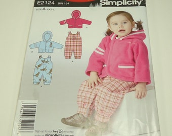 CLEARANCE It's So Easy It's Simplicity Babies' Romper And Jacket Pattern E2124 Size XXS, S, M, L CLEARANCE