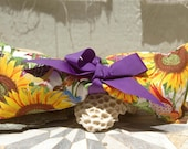 Large Lavender Eye Pillow - Sunflower Pattern - Yoga, Meditation, Stress, Aromatherapy, Therapeutic, Lavender, Calming, Sleep