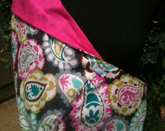 Baby Sling  Baby Carrier - Paisley Gray and Hot Pink - Free Shipping On Second Item