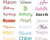 Name Vinyl Wall Decal • Personalized Gift Perfect for Bedroom Door • Small Name Wall Decal • Wall Decal • Girls Room, Boys Room, Nursery