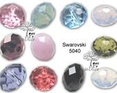 36 pcs Swarovski 5040 Donut Rondelle 6mm beads - U PICK COLORS