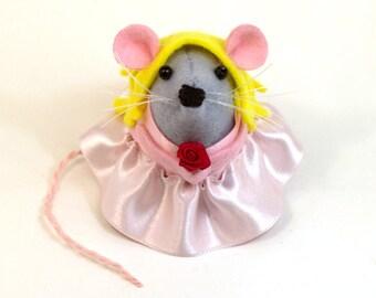 Disney Princess Sleeping Beauty Mouse Ornament Artisan felt princess rat girl hamster mice cute gift for disney princess gift
