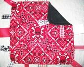 Red Skull Ribbon Security Blanket