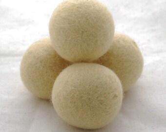 4cm Felt Balls - 5 Count - Cream