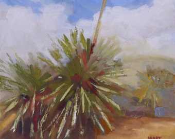 Landscape Oil Painting:  Arizona Desert Agave  8 x 10