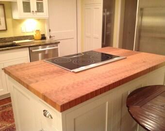 Custom Maple Butcher Block Kitchen Island Counter Top
