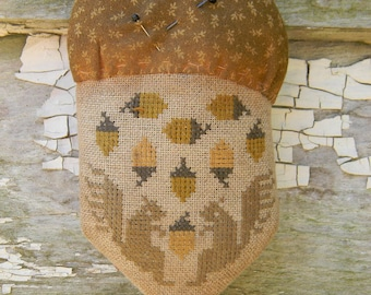 Acorn Harvest - cross stitch PATTERN - from Notforgotten Farm