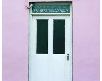 Ireland Photo, Pub Sign, Ring of Kerry, Irish Pub, Purple And Black, Pub Door Photograph, D O Shea Pub, 5 x 7 Photograph, Fine Art Photo