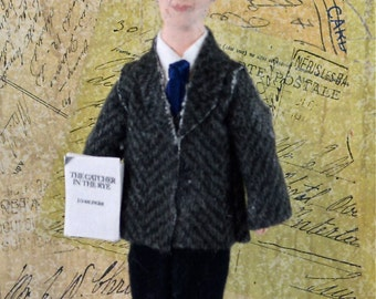J.D. Salinger Doll Art Miniature Author and Writer