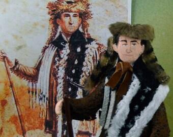 Daniel Boone Doll Miniature Historical Art Character