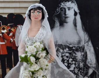 Queen Elizabeth the Queen Mother Bridal Edition Doll Miniature Royals of Britain