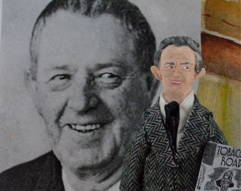 Erskine Caldwell Author Doll Art Miniature by Uneek Doll Designs