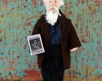 William Barnes Writer Doll Miniature Handmade Art Character