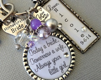 PERSONALIZED MOTHER of the BRIDE gift, today a bride, tomorrow a wife, forever your little girl, thank you gift, you are loved wedding party