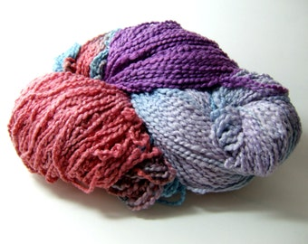 Cotton Boucle Yarn Skein - Into Darkness