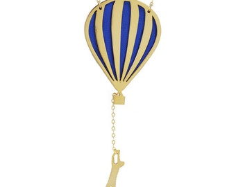 Hot air balloon necklace // In the air necklace
