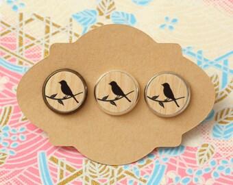 10 pcs handmade bird - earrings, pendant, ring - 12mm (PW-007)