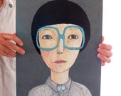 portrait with glasses  BIG print