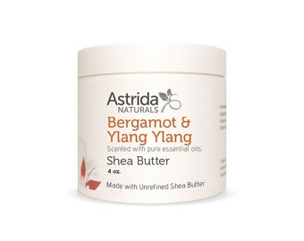 Unrefined Shea Butter - Bergamot & Ylang Ylang, Organic, Pure Shea Butter, Fair Trade, Made With Essential Oils