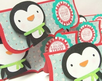 Penguin Treat Bag Toppers - set of 6 cello bags included