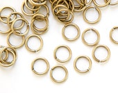 6mm ID Open Brass Ox Jump Rings 18 Gauge Made in the USA (100) fnd202B