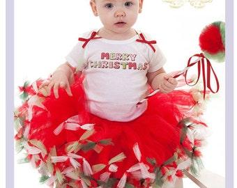 Christmas Tutu Outfit Christmas Pettiskirt Outfit 2T 3T 4T Red And Green Pettiskirt Set Girls Christmas Outfit