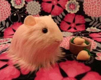 Big Sheltie Guinea Pig Plushie - Pink