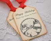 Happy Holiday Tags, Happy Holiday Gift Tags,  Our Home to Yours Tags, Winter Tags, Christmas Tags, Set of 6