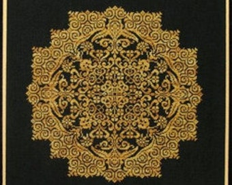Cross Stitch Pattern, Kaleidoscope Flower Counted Cross Stitch Pattern by Sampler Cove DD