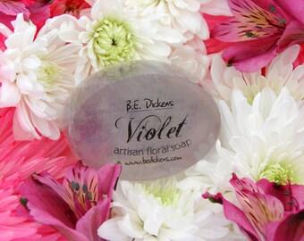 Violet Soap Handcrafted Floral Soap