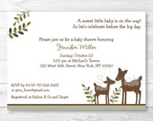 Cute Deer Baby Shower Inv...