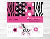 Cute Pink Zebra Clipart /...